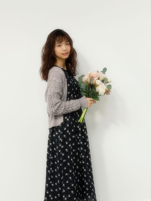 【AnMILLE】花柄シフォンマキシOP
